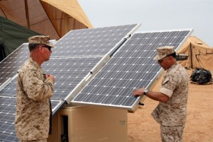 After a Marine company began using solar panels while deployed abroad, they reported that their diesel fuel usage dropped by a whopping 90 percent. Source: http://solar.calfinder.com/blog/solar-contractors/solar-power-saves-lives-taxpayer-dollars-on-the-battleground