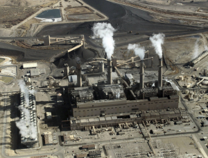 New Mexico's largest electric provider — the coal-fired San Juan Generating Station near Farmington — has been defending a plan to replace part of an aging coal-fired power plant with a mix of more coal, natural gas, nuclear and solar power. Susan Montoya Bryan/AP & NPR website.